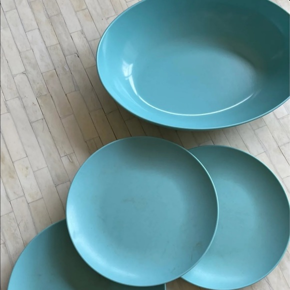 VTG Oneida Melmac Melamine turquoise dish set